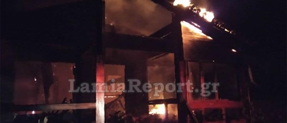 Κάηκε πολυτελές σαλέ (εικόνες)