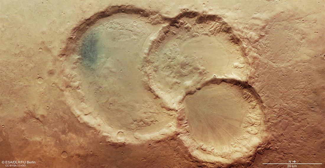 Τριπλός κρατήρας - Άρης