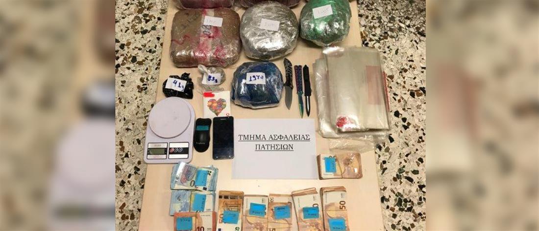 Μεγάλη ποσότητα ναρκωτικών σε σπίτι στα Πατήσια (εικόνες)