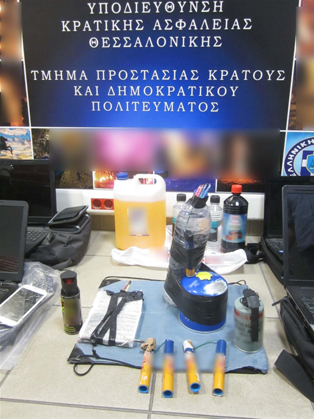 εκρηκτικά - εμπρηστικός μηχανισμός - Καλαμαριά - Δημήτρης Σταμάτης