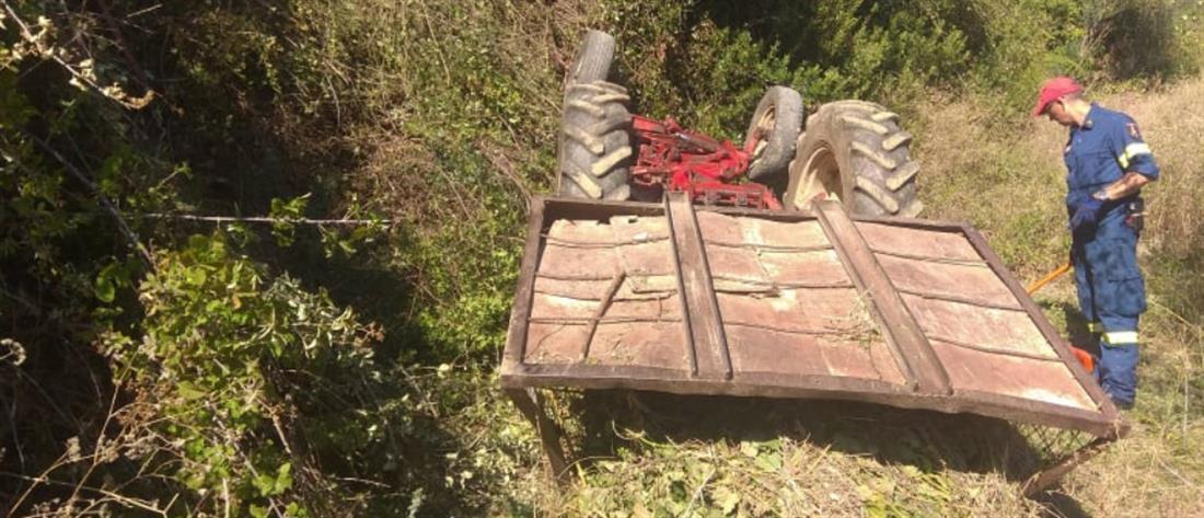 Αγρίνιο: Νεκρός από ανατροπή τρακτέρ (εικόνες)