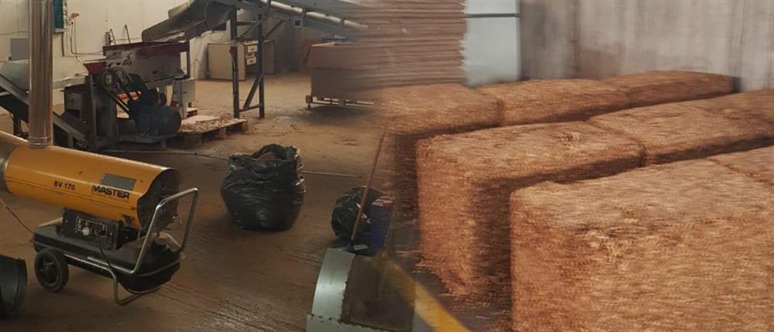 Κατασχέθηκαν πάνω από 15 τόνοι καπνού σε παράνομο εργαστήριο (εικόνες)