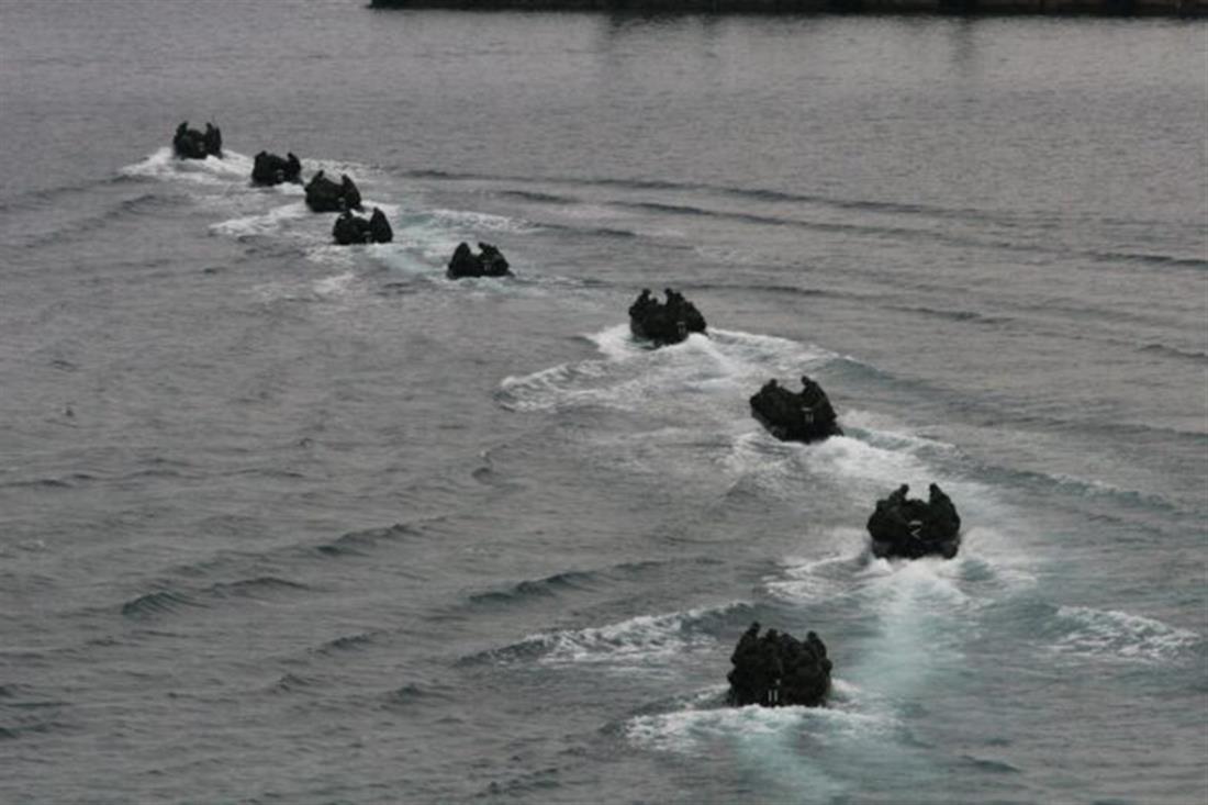 Άσκηση - Δυνάμεις Διακλαδικής Διοίκησης Ειδικών Επιχειρήσεων του ΓΕΕΘΑ - Πλοίο Ταχείας Μεταφοράς ΚΕΦΑΛΛΗΝΙΑ