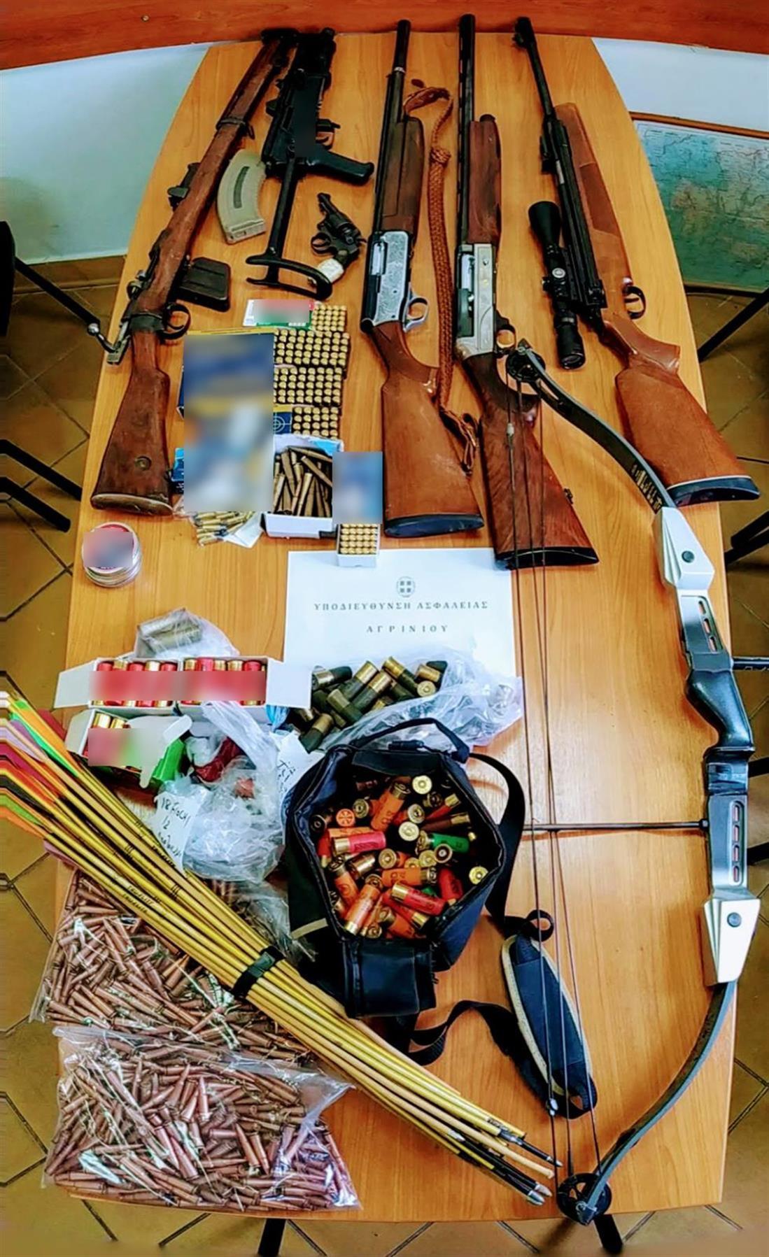 Αγρίνιο - παράνομη κατοχή όπλων