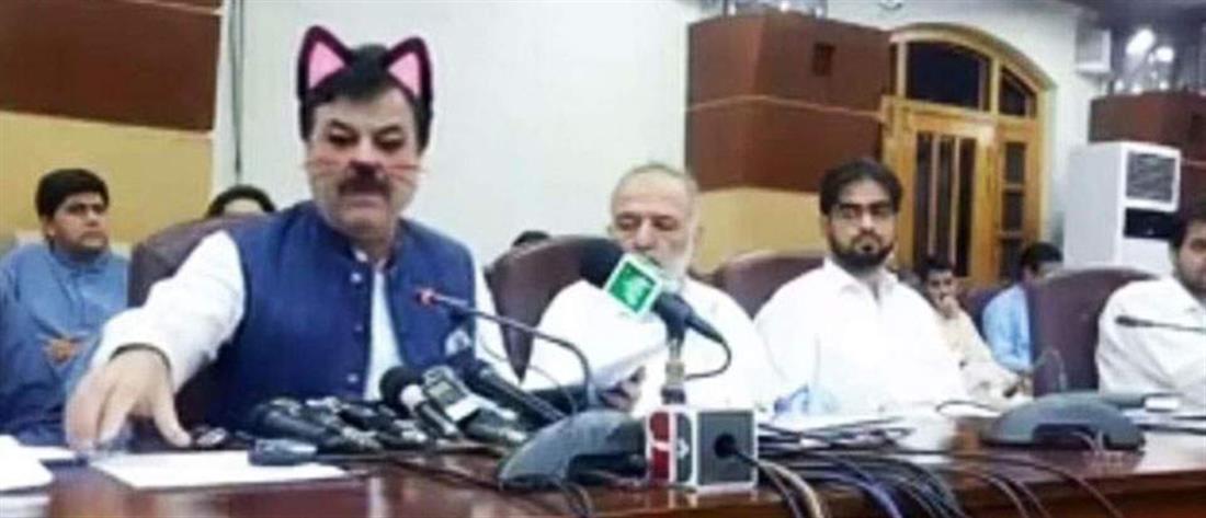 Πακιστάν - Υπουργός - γάτα