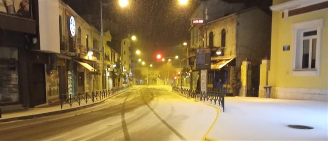 """""""Λέανδρος"""": Επέλαση του χιονιά στην Κοζάνη (εικόνες)"""