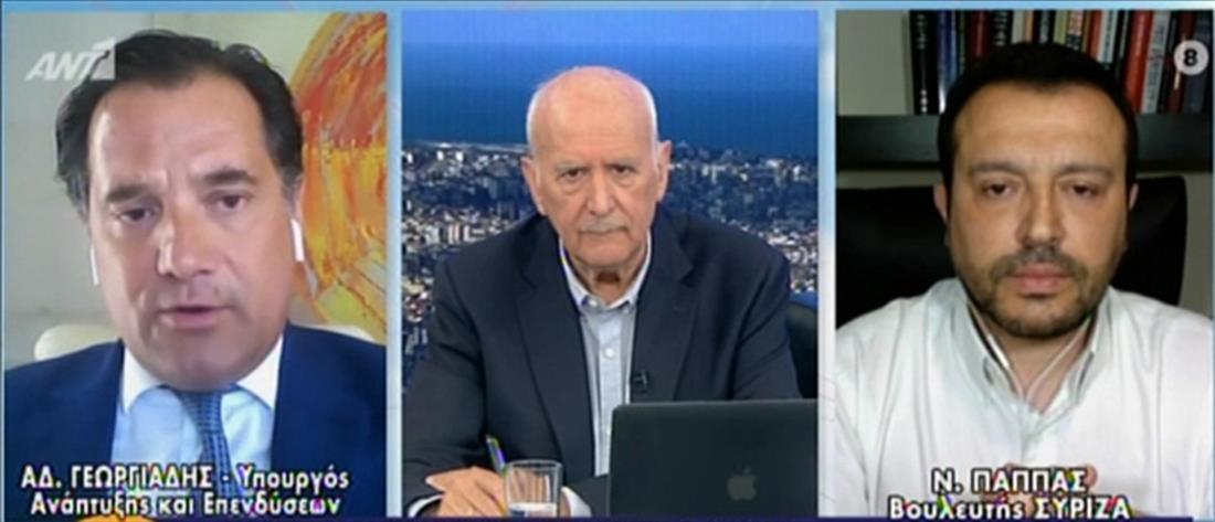 Παππάς – Γεωργιάδης στον ΑΝΤ1: καυγάς για το ντοκουμέντο Μιωνή και τις αποκαλύψεις (βίντεο)