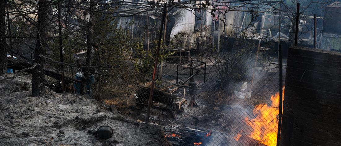 Φωτιά στον Σχίνο Λουτρακίου: ζημιές σε σπίτια και εκκένωση οικισμών (εικόνες)