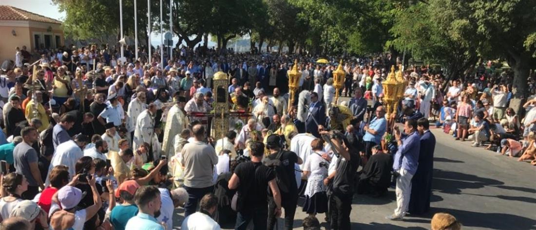 Με λαμπρότητα η λιτανεία του Αγίου Σπυρίδωνος στην Κέρκυρα (εικόνες)