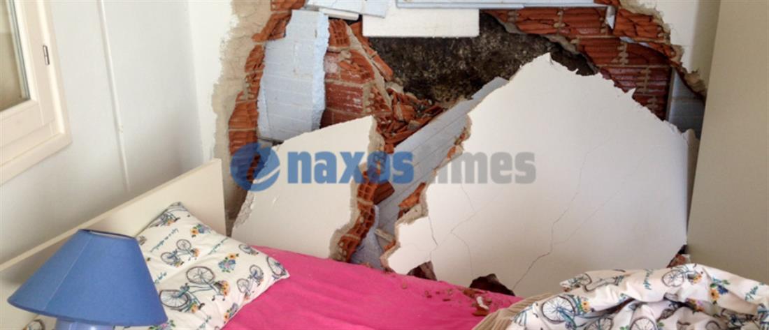 Απίστευτο: βράχος έπεσε στην κρεβατοκάμαρα αγροτικής ιατρού! (εικόνες)