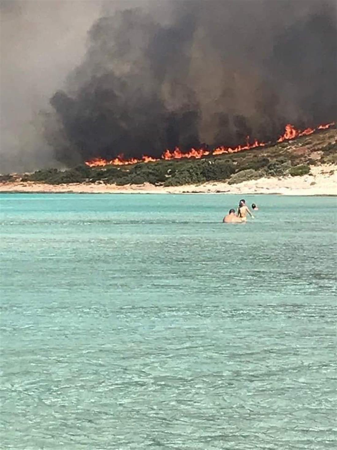 φωτιά - Ελαφόνησος