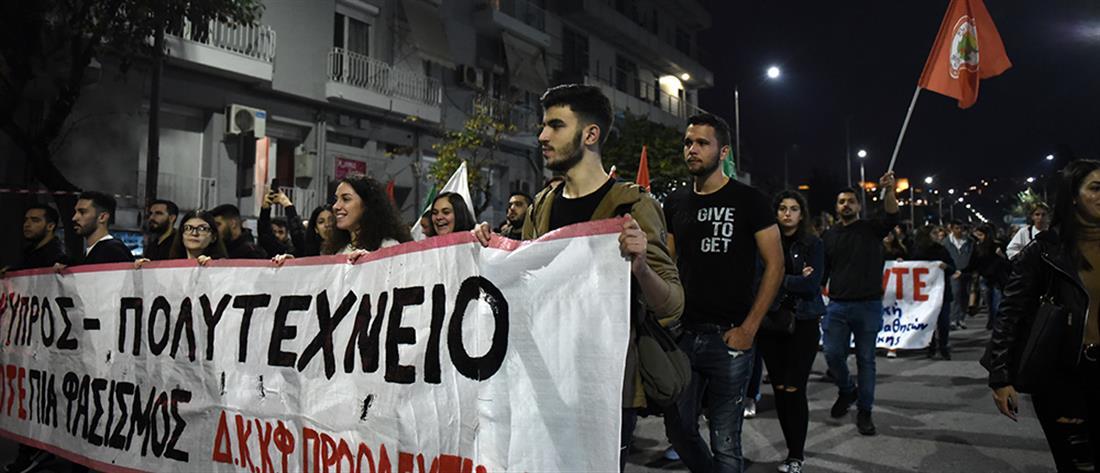 Πολυτεχνείο: Πορείες σε Θεσσαλονίκη και Πάτρα (εικόνες)
