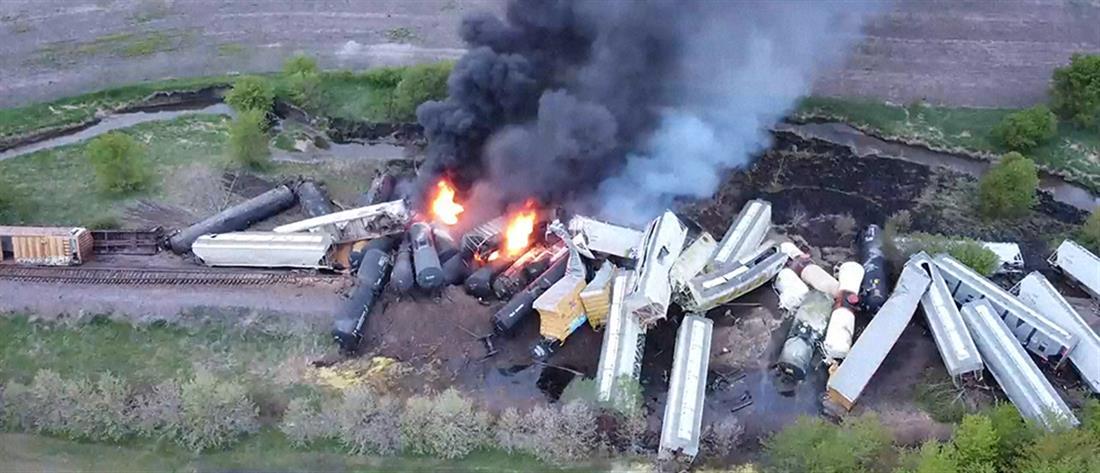 ΗΠΑ: Εκτροχιάστηκε τρένο με επικίνδυνα υλικά - Εκκενώθηκε η περιοχή