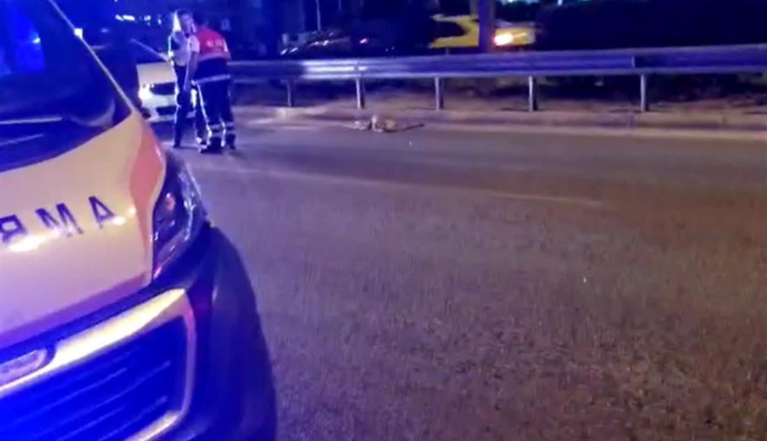 Τροχαίο δυστύχημα - μοτοσυκλέτα - λεωφόρος Βουλιαγμένης