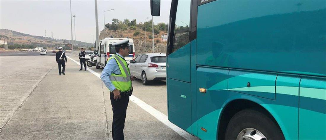 """Έλεγχοι της Τροχαίας σε λεωφορεία: """"Βροχή"""" έπεσαν τα πρόστιμα"""