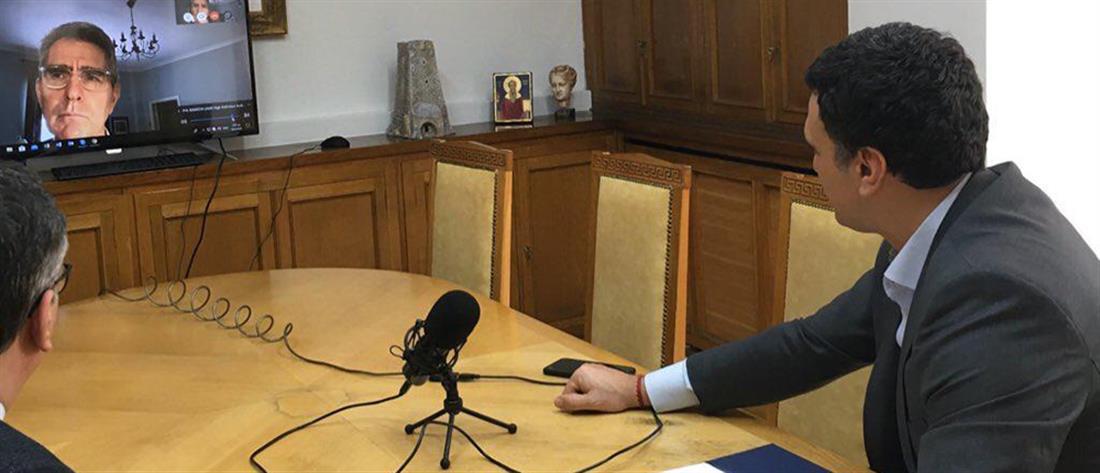 Κορονοϊός: Τηλεδιάσκεψη Κικίλια-Κοντοζαμάνη με τον Τζέφρι Πάιατ