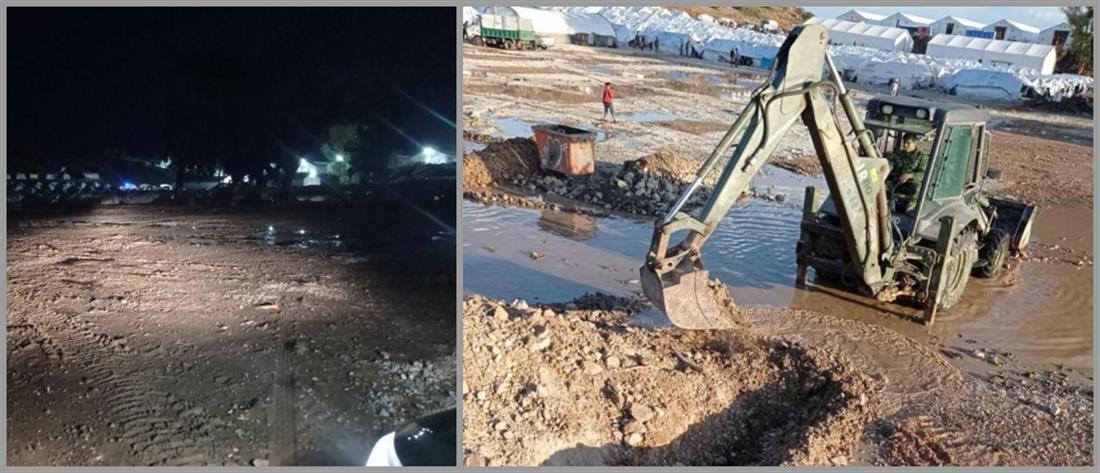 """Καρά Τεπέ: Η κακοκαιρία """"βούλιαξε"""" το ΚΥΤ (εικόνες)"""