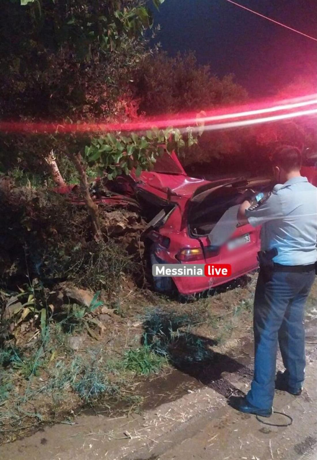 Μεσσηνία - Άγιος Φλώρος - τροχαίο δυστύχημα
