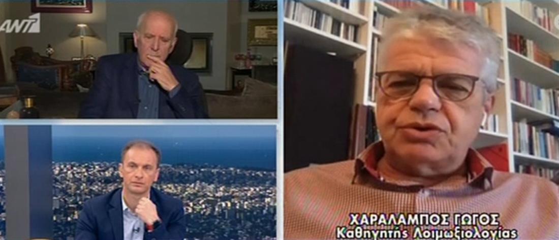 Γώγος στον ΑΝΤ1 για κορονοϊό: ποιο στοιχείο μας επιτρέπει να είμαστε συγκρατημένα αισιόδοξοι (βίντεο)