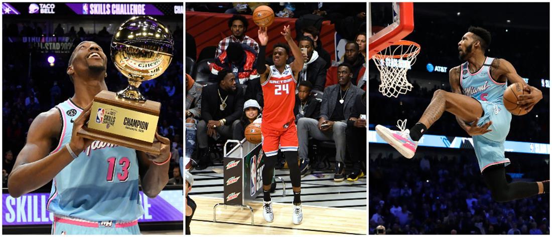 NBA All Star Game:  Οι νικητές σε τρίποντα, καρφώματα και επιδεξιότητες