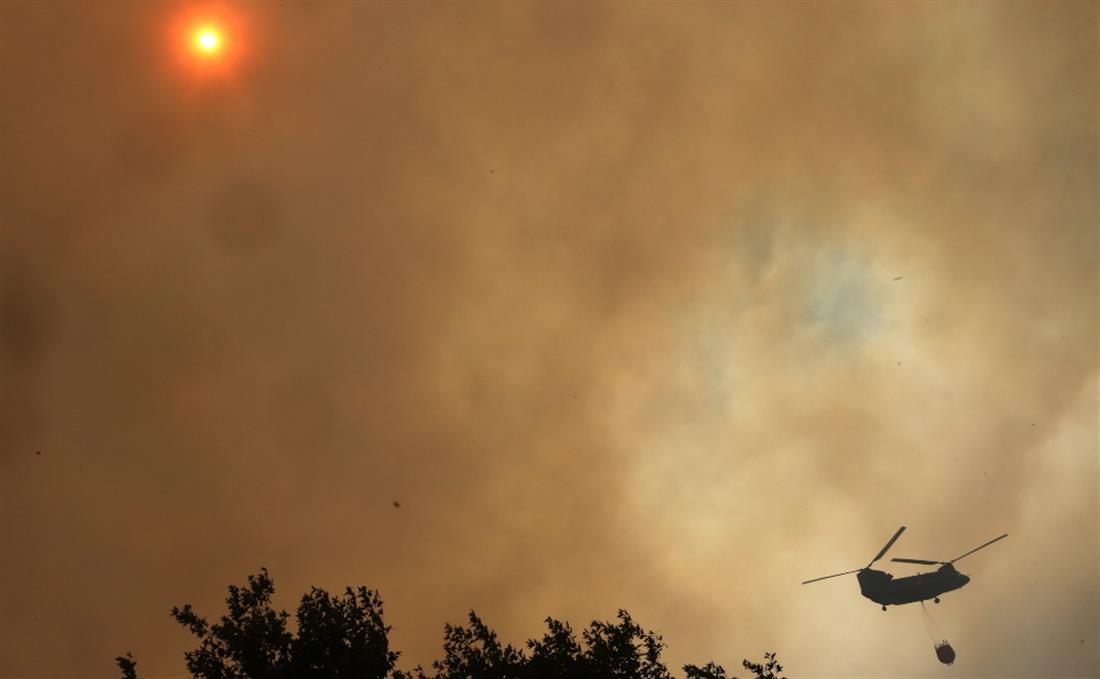 Εύβοια - Φωτιά - Πυρκαγιά - Δάσος - Ελικόπτερο