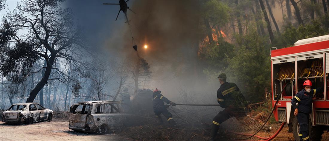 Χωρίς ενεργό μέτωπο η φωτιά στην Εύβοια