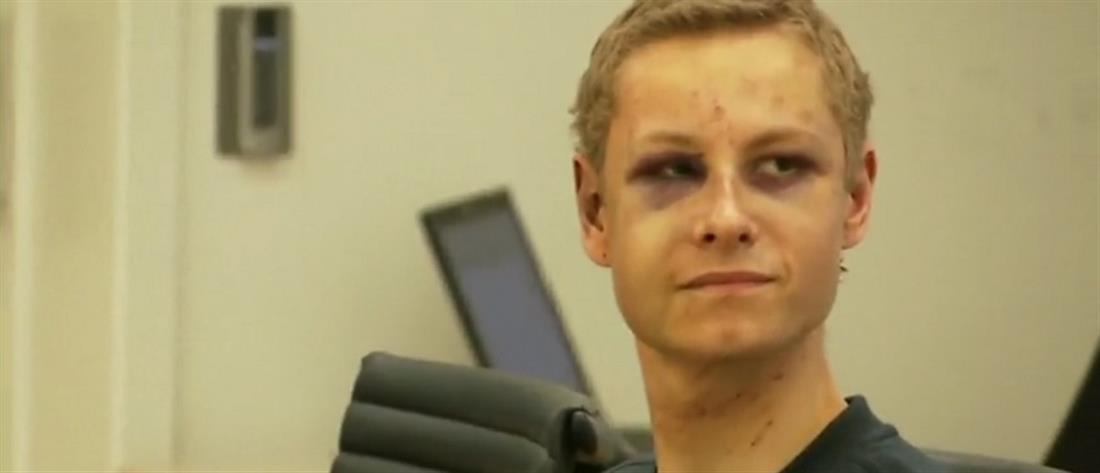 """Όσλο: """"Μαυρισμένος"""" στο δικαστήριο ο νεαρός που πυροβόλησε μέσα σε τζαμί (εικόνες)"""