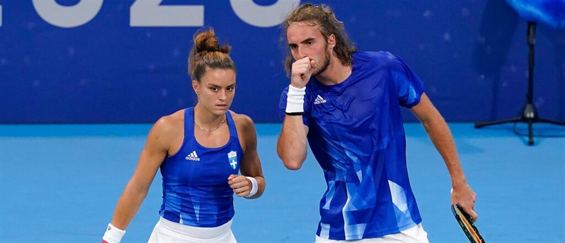 Ολυμπιακοί Αγώνες: Τσιτσιπάς - Σάκκαρη προκρίθηκαν στα προημιτελικά στο μεικτό διπλό