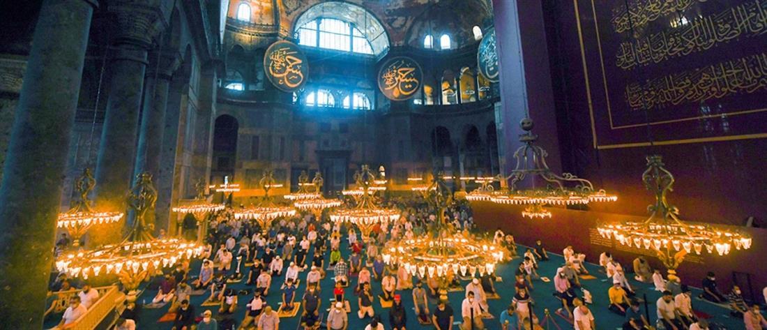 """""""Ευρω-χαστούκι"""" στον Ερντογάν για τη μετατροπή της Αγίας Σοφίας σε τζαμί"""