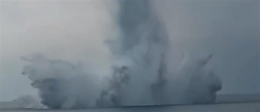 Εξουδετερώθηκε νάρκη του Β' Παγκοσμίου Πολέμου στα Μουδανιά (βίντεο+φωτό)