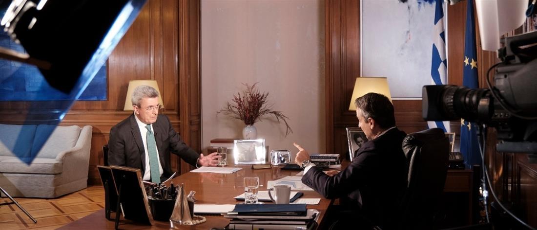 Συνέντευξη Μητσοτάκη στον ΑΝΤ1 και στον Νίκο Χατζηνικολάου