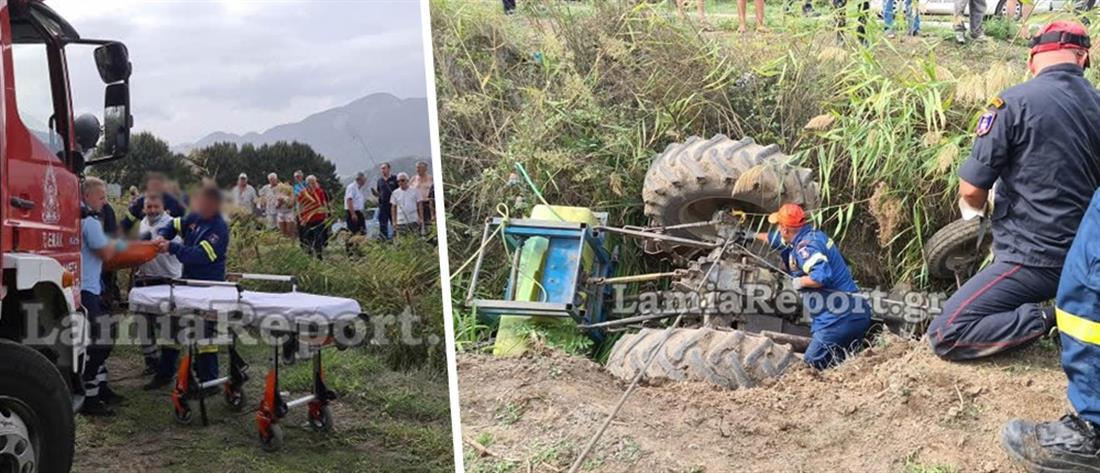 Εφιάλτης για αγρότη που εγκλωβίστηκε κάτω από το τρακτέρ του (εικόνες)