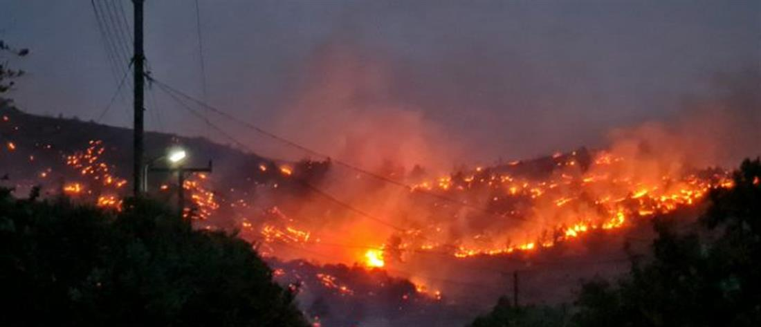 Μεγάλη φωτιά στο Λασίθι (βίντεο)