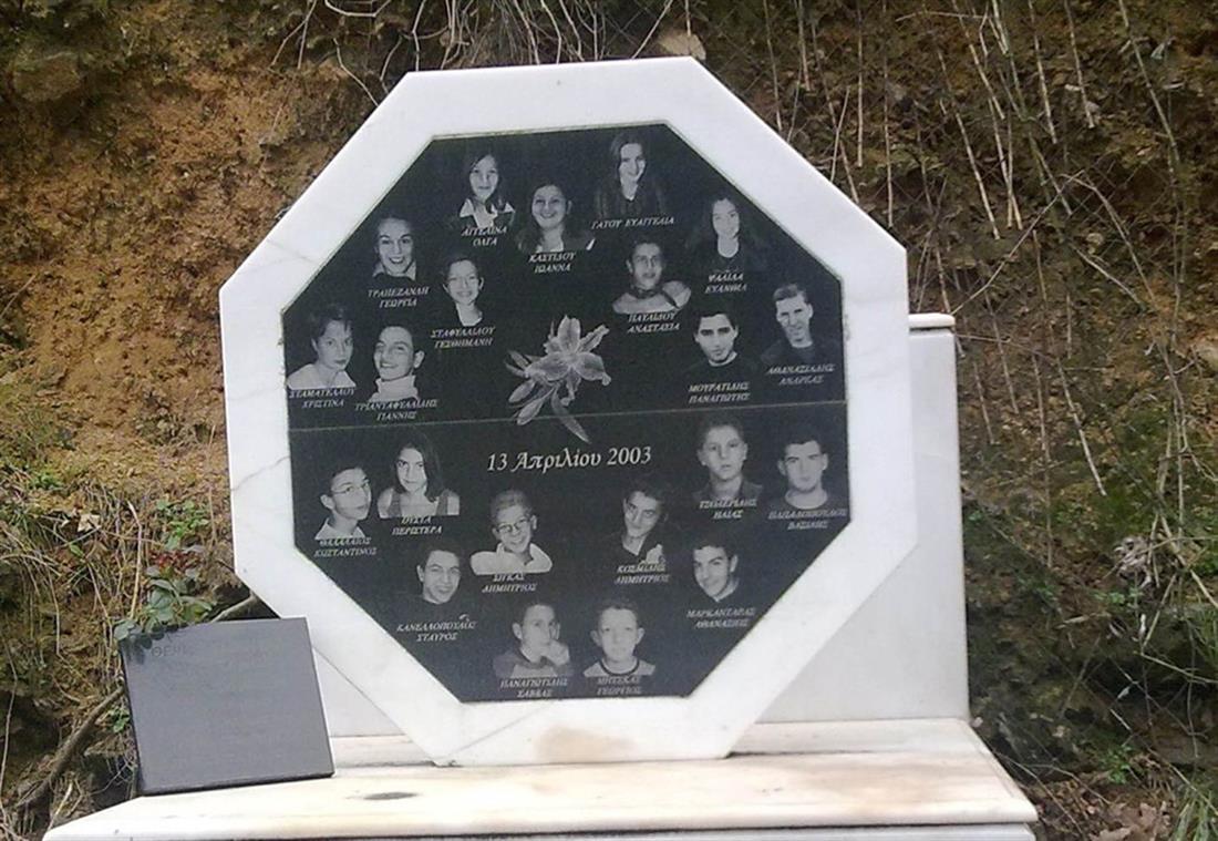 Τέμπη - μνημείο - δυστύχημα - 21 μαθητές