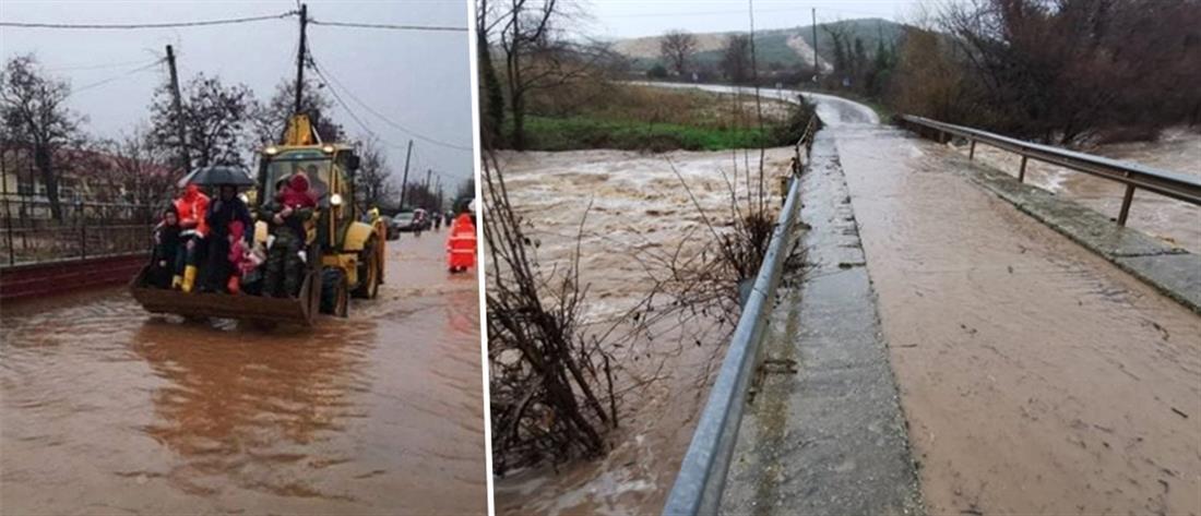 """""""Σαρώνει"""" τη χώρα η κακοκαιρία: πλημμύρες, ζημιές και εγκλωβισμένοι (εικόνες)"""