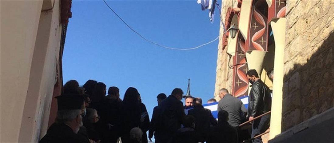 Νίκος Γεωργίου: σπαραγμός στην κηδεία του