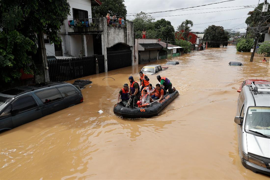 AP - Φιλιππίνες - τυφώνας - πλημμύρες