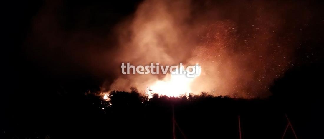 Θεσσαλονίκη: Μεγάλη φωτιά στην Νέα Ευκαρπία (βίντεο)