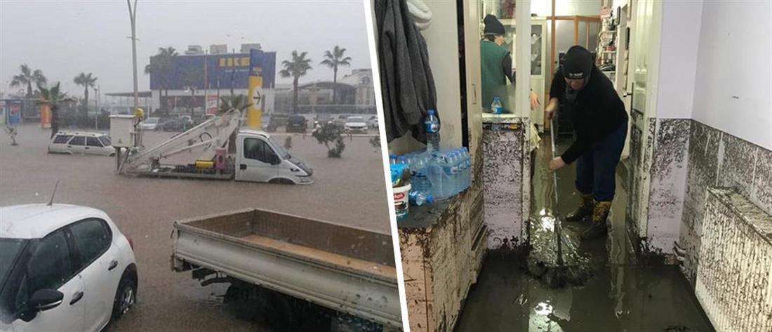 Προβλήματα από τις πλημμύρες στην Αλικαρνασσό (βίντεο)