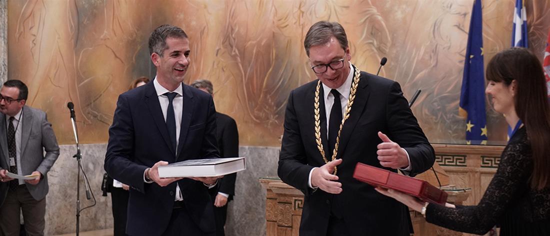 Το Χρυσό Μετάλλιο Αξίας της Πόλεως των Αθηνών στον Βούτσιτς (εικόνες)