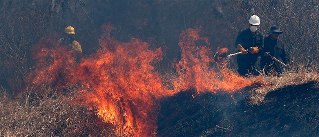 Πυροσβέστες καταρρέουν μετά από άνιση μάχη με την πυρκαγιά (βίντεο)