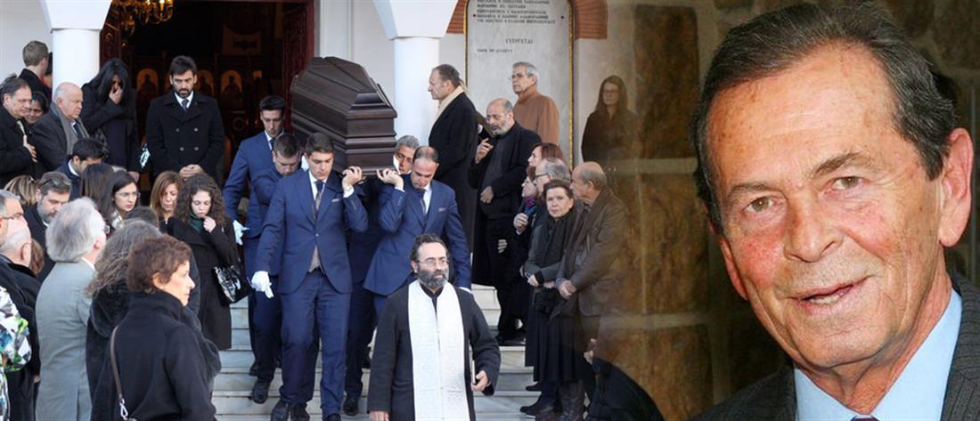 Συγκίνηση στη κηδεία του Αλέξη Μάρδα -Συντετριμμένη η Τάνια Τρύπη (φωτο)