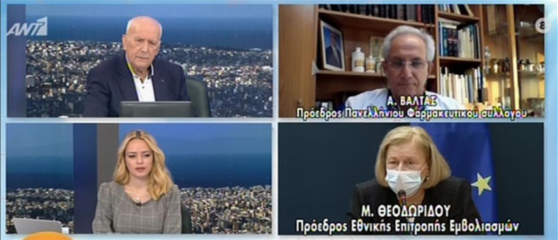 Θεοδωρίδου στον ΑΝΤ1: να κάνουν το εμβόλιο της γρίπης αυτοί που πρέπει (βίντεο)