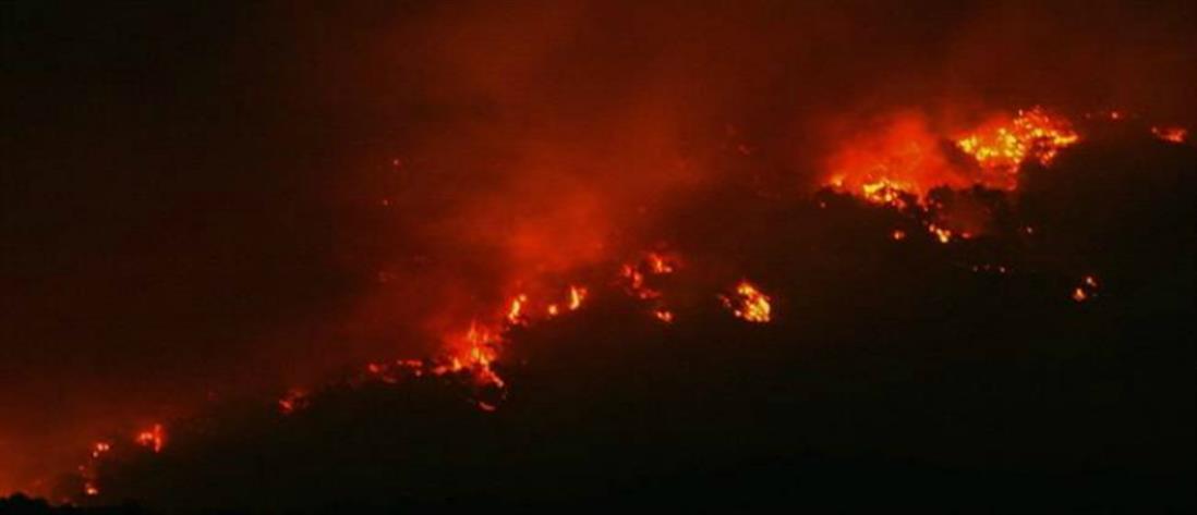 Βίντεο από την φωτιά στην Τζιά