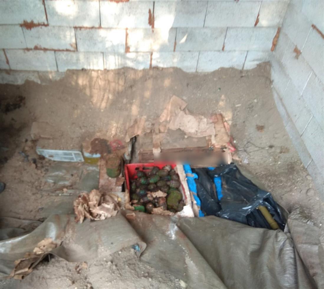 θαμμένα όπλα - οπλοστάσιο - Καστοριά