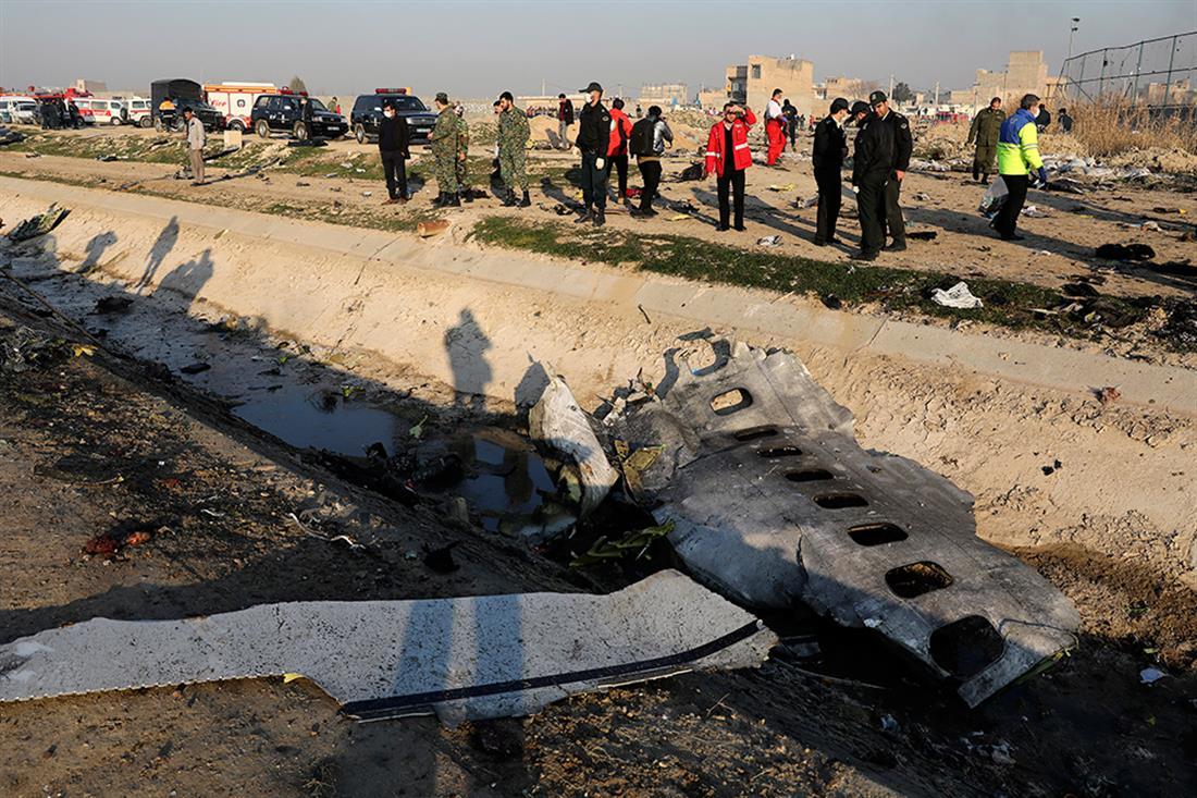 Ιράν - πτώματα - πτώση αεροπλάνου - πτήση PS752