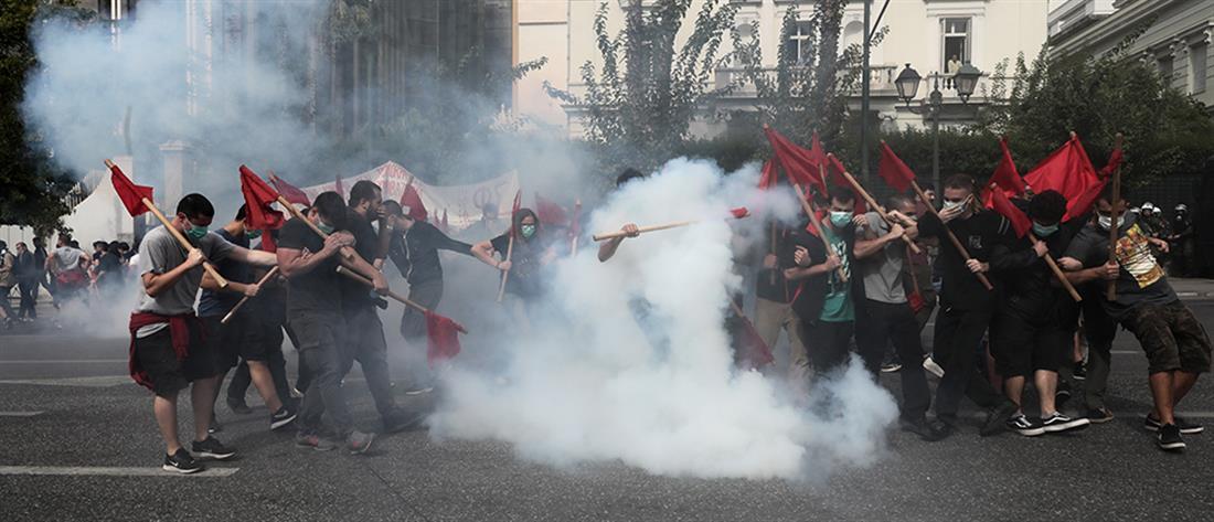 Επεισόδια στο εκπαιδευτικό συλλαλητήριο