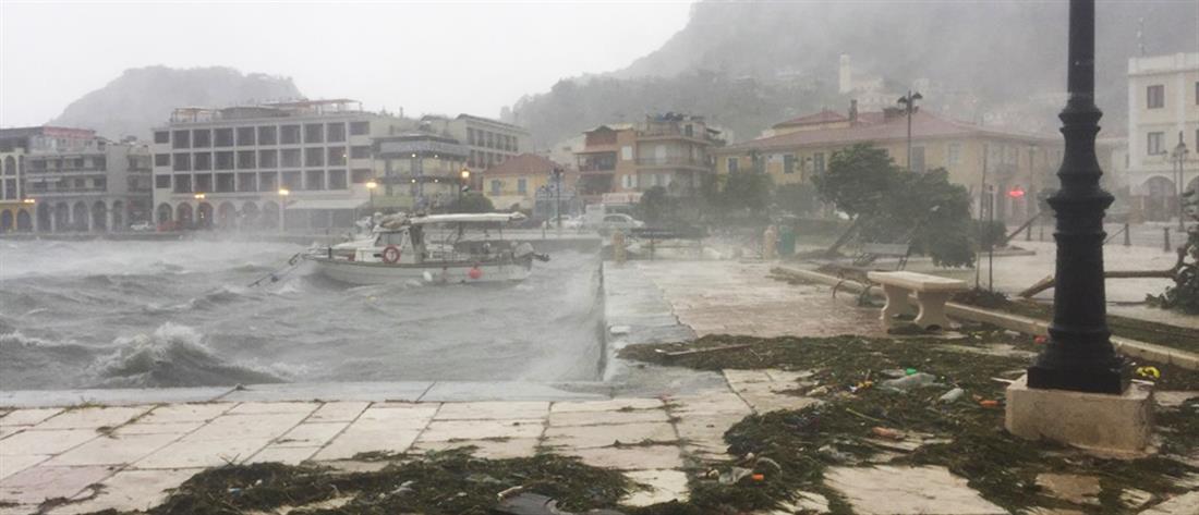 """""""Ιανός"""": Ισχυρά φαινόμενα στη δυτική Ελλάδα (εικόνες)"""