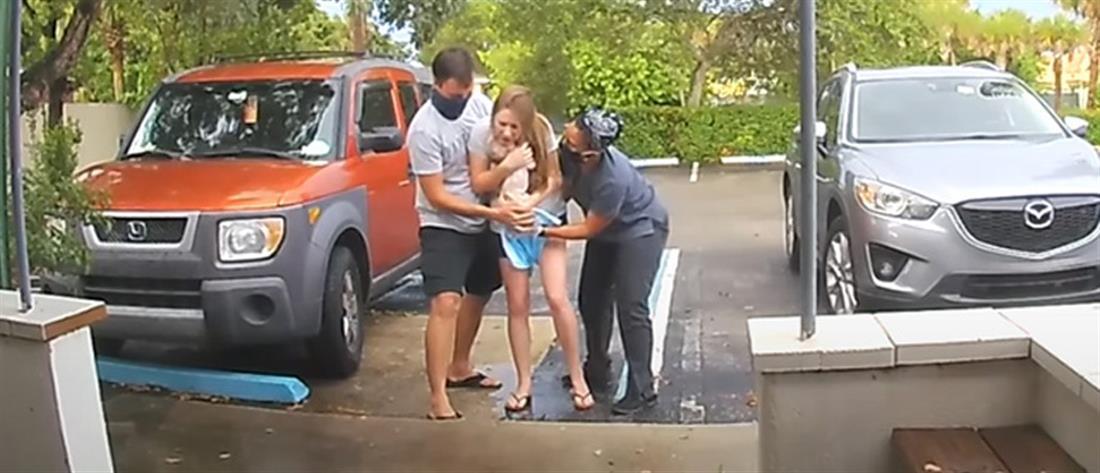 Βίντεο: Γέννησε όρθια στο πάρκινγκ του μαιευτηρίου