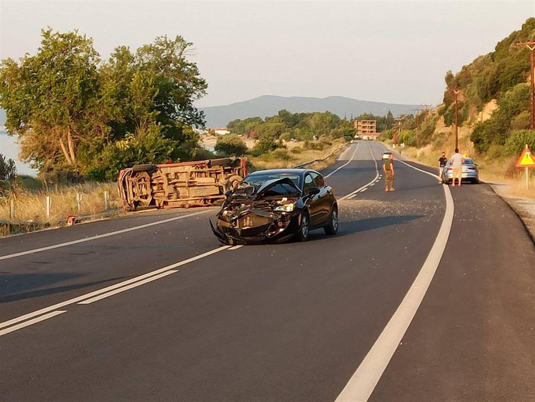 Τροχαίο δυστύχημα - Παλαιά Εθνική Οδός Θεσσαλονίκης-Καβάλας - Σέρρες